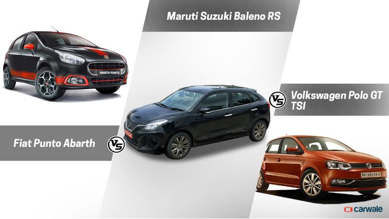 Spec comparison: Maruti Suzuki Baleno Rs Vs Fiat Punto Abarth Vs Volkswagen Polo GT TSI