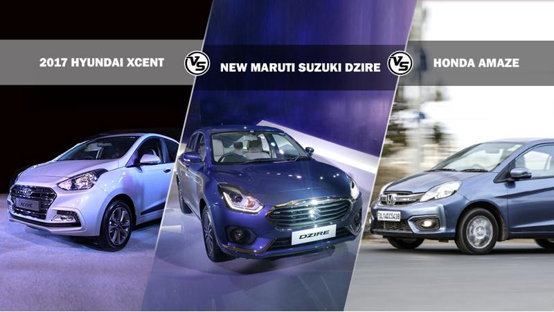 Spec comparison: New Maruti Suzuki Dzire Vs Honda Amaze and Hyundai Xcent