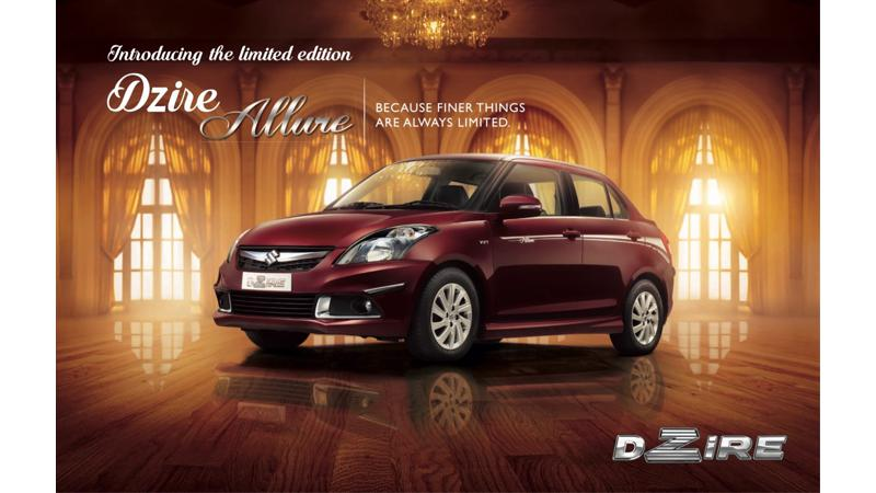 Limited Edition Maruti Swift Dzire Allure revealed for the Indian market