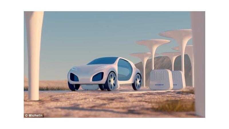 Michelin showcases Vision biodegradable concept tyre