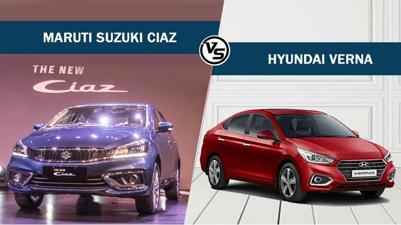 Maruti Suzuki Ciaz Vs Hyundai Verna - Spec comparo