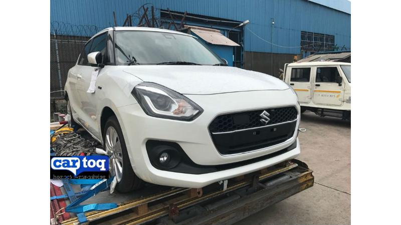 Next generation Suzuki Swift hybrid spotted in India for the first time