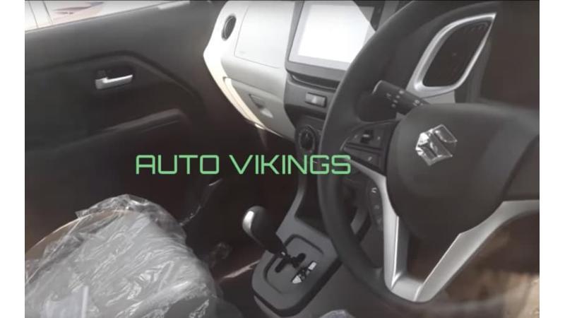 2019 Maruti Wagon R ZXi AGS spied at dealer yard