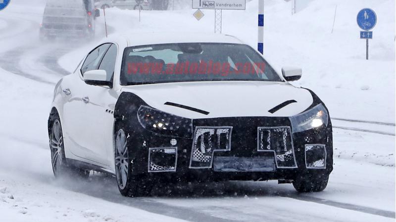 Maserati Ghibli facelift spied testing