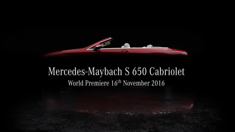 Mercedes-Maybach teased S650 Cabriolet ahead of launch
