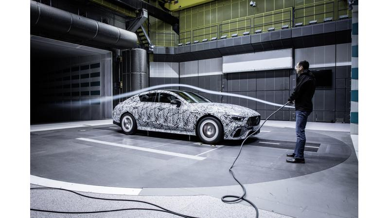 Mercedes-AMG GT four-door undertakes wind tunnel test
