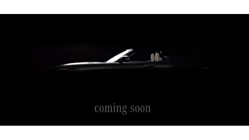Mercedes AMG GT roadster teased