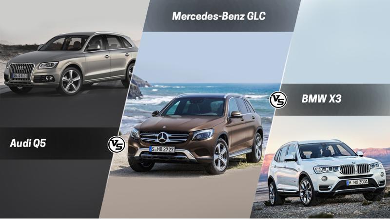 Spec Comparo: Mercedes-Benz GLC Vs Audi Q5 Vs BMW X3