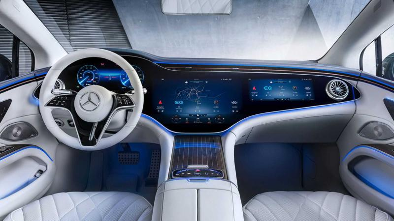 Mercedes-Benz EQS interior revealed; hyperscreen system debuts