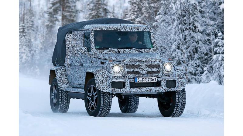 Mercedes building a baby 6x6 pickup