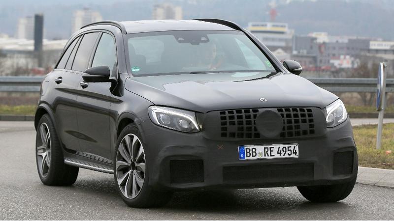 Mercedes-AMG GLC 63 shot testing in Germany