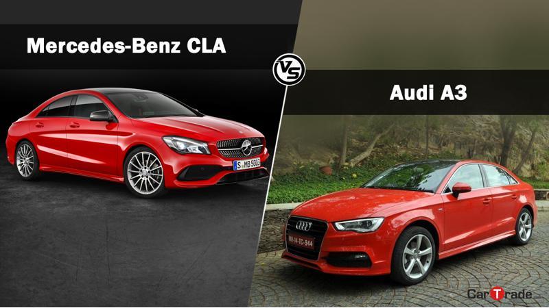 Mercedes-Benz CLA facelift Vs Audi A3