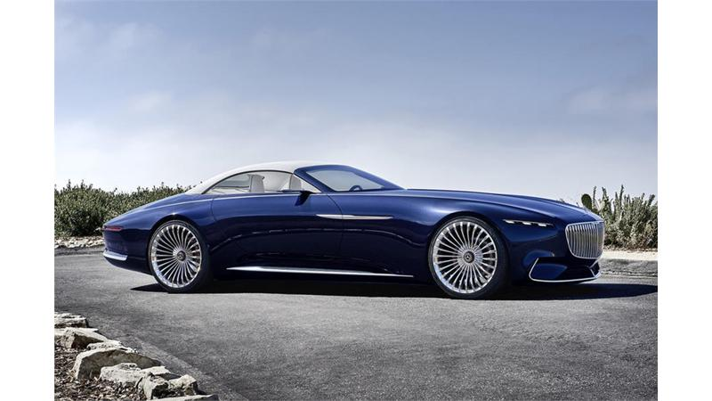 Mercedes-Maybach 6 Cabriolet all-electric concept car revealed in pictures