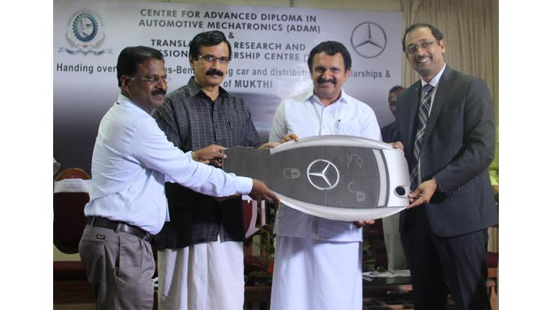 Mercedes-Benz donates latest C-Class to Barton Hill Engineering College