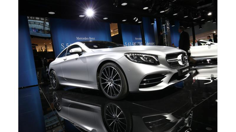 Frankfurt Auto Show 2017: Updated Mercedes-Benz S -Class coupe and cabriolet showcased