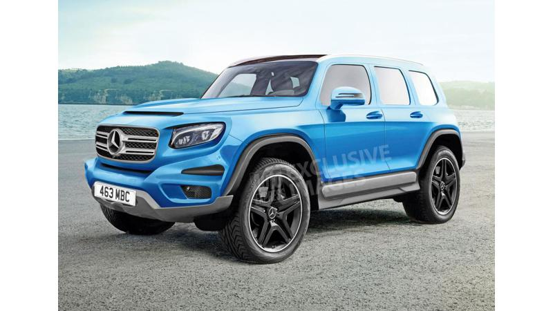 2019 Mercedes GLB to be a baby G-Wagen?