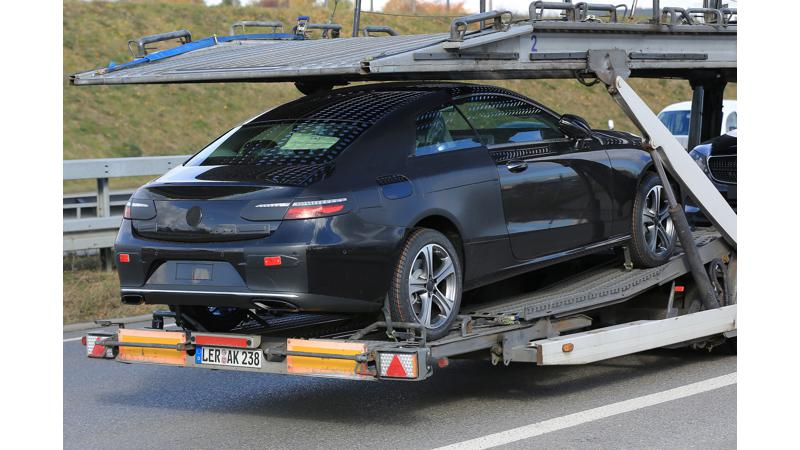 Mercedes E-Class Coupe spotted on test