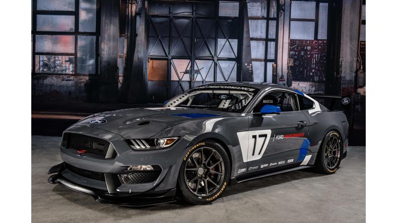 Ford Mustang GT4 races in to SEMA Show