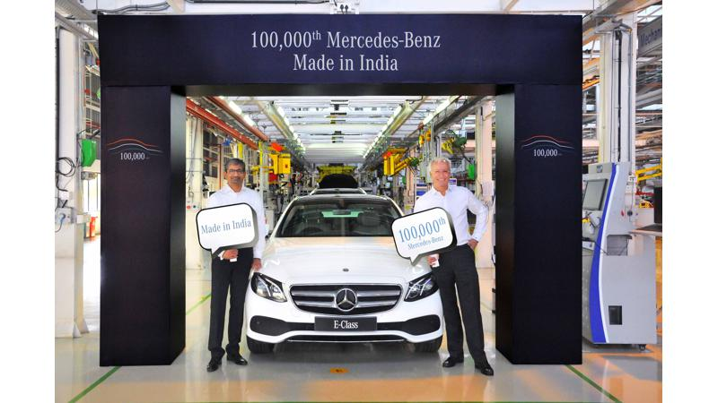 Mercedes-Benz India rolls out one lakh milestone car from Pune plant