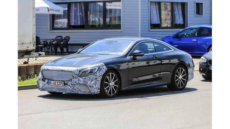 New Mercedes S63 AMG Coupe spied testing