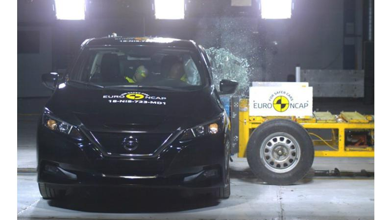 New Euro NCAP awards 5 stars safety rating for Nissan Leaf