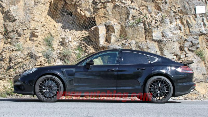 Porsche's new saloon caught testing