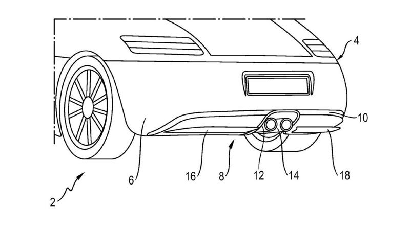 Active Rear Diffuser patented by Porsche, likely to be used in future EVs