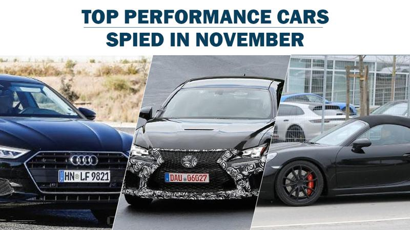 Top 3 performance cars spotted in November