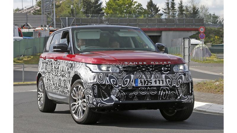 Range Rover Sport facelift spied