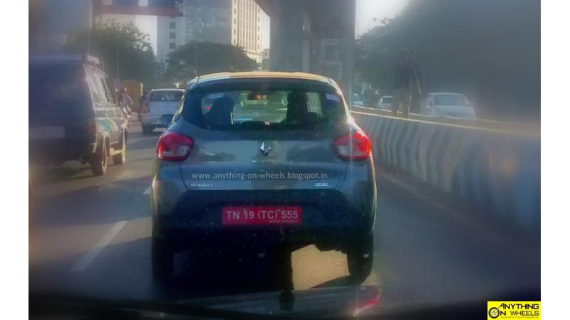 Renault Kwid AMT spied in Chennai