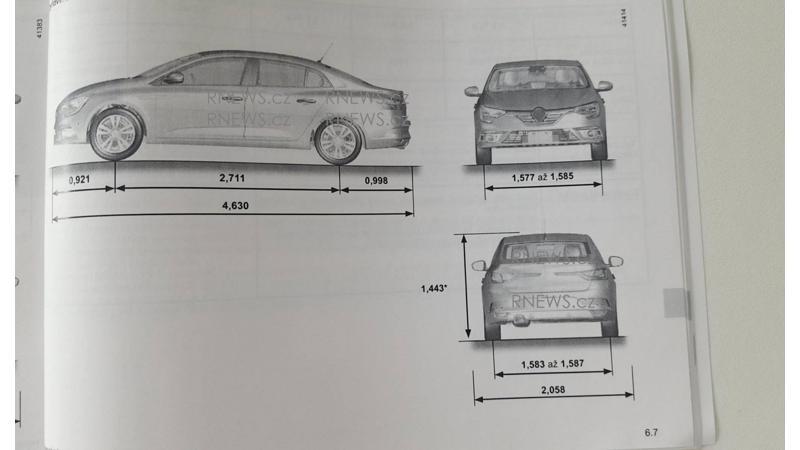 Renault Megane sedan leaked