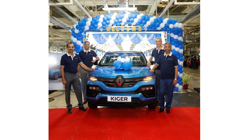 Renault Kiger mass production begins at brand's Chennai plant