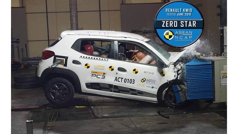 Renault Kwid earns zero stars at ASEAN NCAP crash test