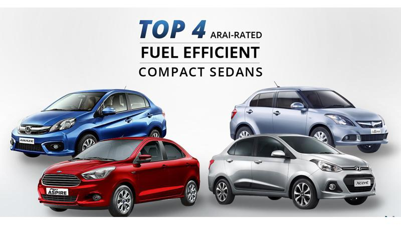 Revealed: India's top 4 most fuel efficient compact sedans