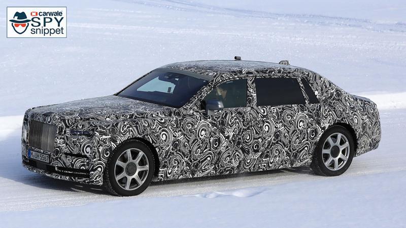 2018 Rolls Royce Phantom spotted testing