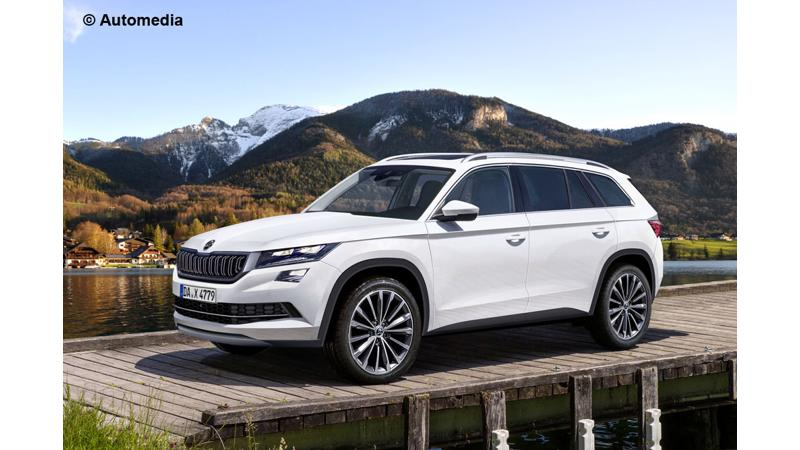 Skoda Kodiaq renderings reveal design cues; could be launched in India 2017