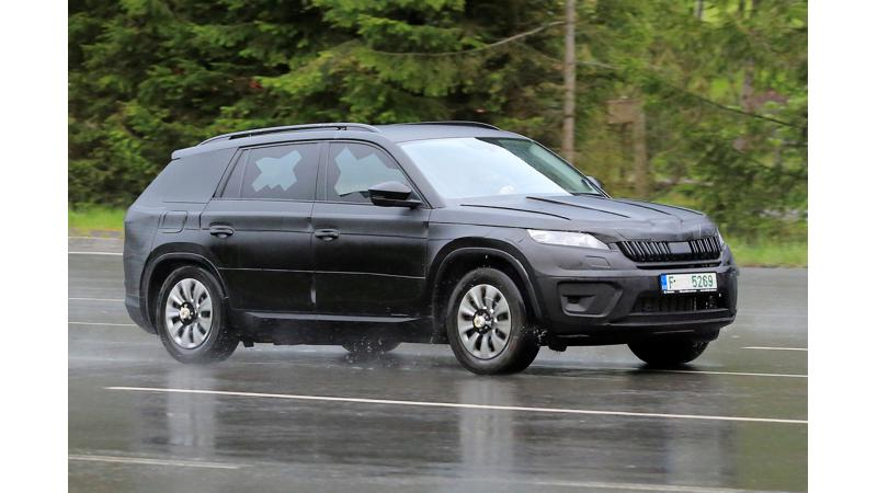 Skoda   s upcoming SUV called Kodiaq spotted on test