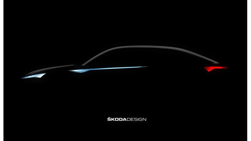 Skoda's upcoming car teased ahead of Shanghai unveiling