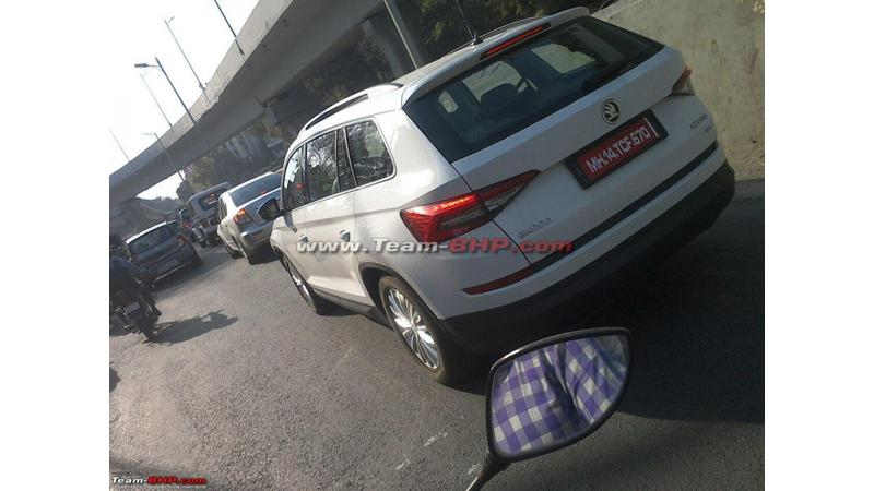 Skoda Kodiaq spotted testing in India ahead of its debut