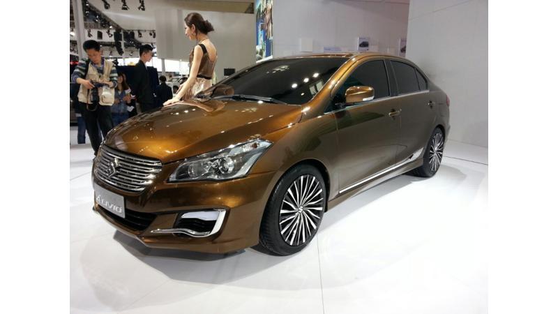 Suzuki Alivio Concept aka Ciaz debuts at 2014 Beijing Motor Show