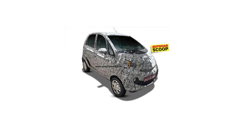 Tata Nano facelift test mule spotted
