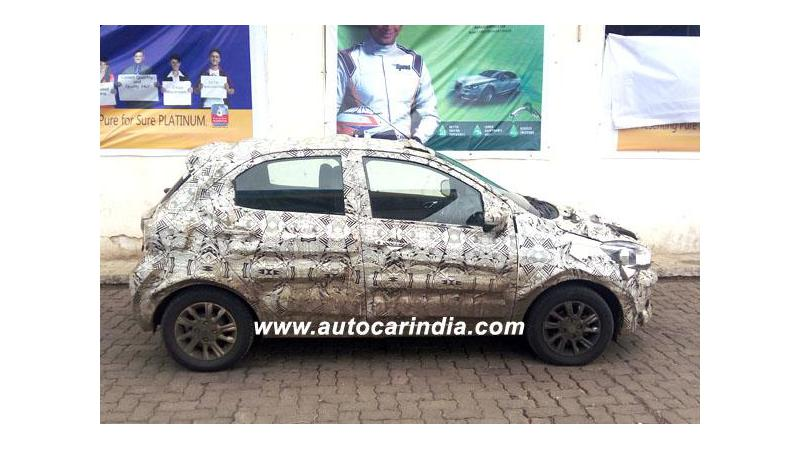 Tata Tiago petrol AMT spotted; launch soon