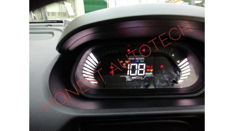 Tata Tiago facelift with fully digital instrument cluster leaked ahead of launch