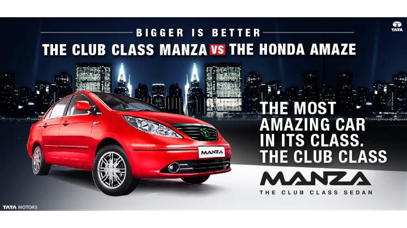 Tata wants you to compare Manza with Amaze