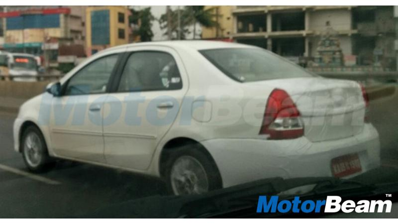 Toyota Etios facelift spotted testing