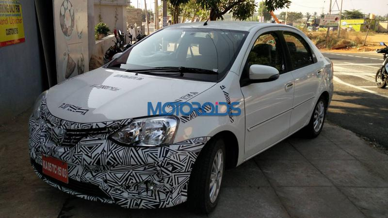 Toyota starts testing the Etios facelift in India
