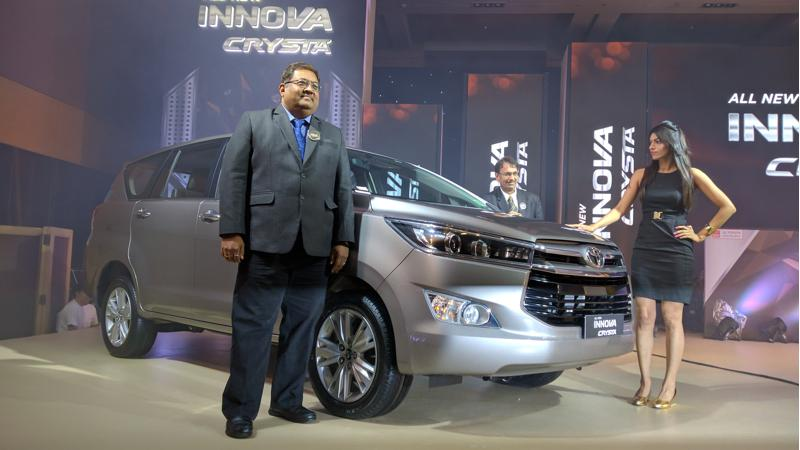 Toyota Innova Crysta launched in Mumbai at Rs 13.84 lakh