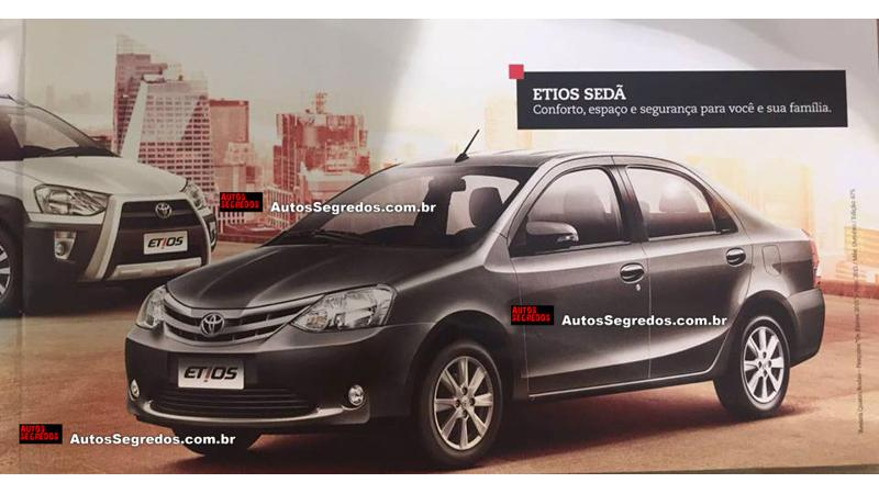 Toyota's facelifted Etios sedan for South America leaked through images