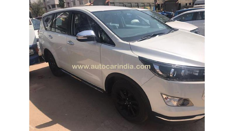 Toyota Innova Crysta special edition spotted at dealer yard