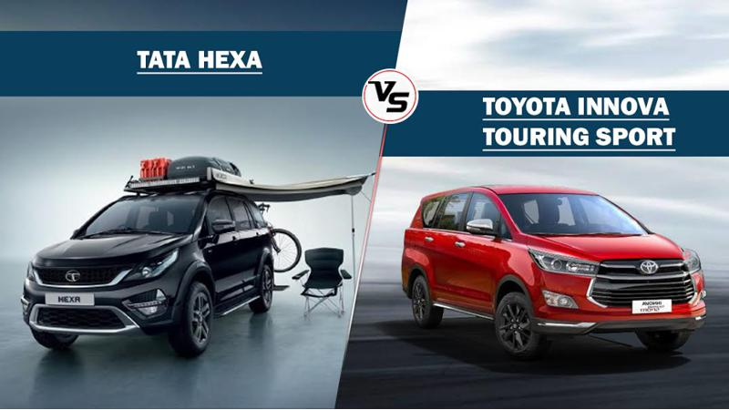 Toyota Innova Touring Sport Vs Tata Hexa Luxe and Adventure pack - feature spec comparison